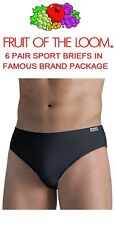 FRUIT OF THE LOOM MEN'S 6 PACK SPORT BRIEFS IN FAMOUS BRANDS PACKAGING