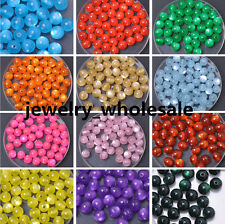 Wholesale 30pcs 100pcs Acrylic Cat's Eye Charm Round Loose Spacer Beads 8mm