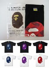 A BATHING APE Men's COLOR CAMO BIG APE HEAD TEE 6 Colors From Japan New