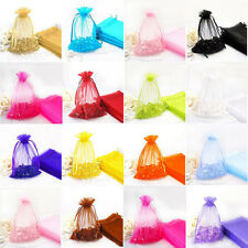 100x Sheer Organza Wedding Party Favour Gift Candy Bags Jewellery Pouches 7*9cm