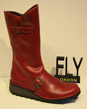 Fly London Mes Boot In Red (SALE) Was £120.00 Now £100.00