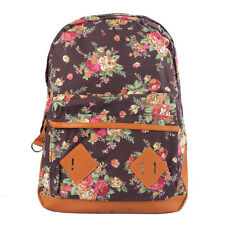 Women Girl Canvas Rucksack Flower Backpack School Book Shoulder Bag Excellent