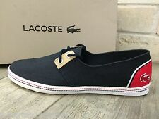 LACOSTE Mens Boat Shoes Moccasin Low Trainers Sneakers BARDOS 3 Navy New In Box