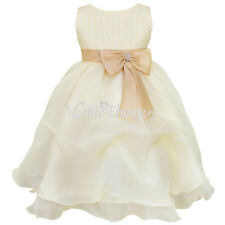 GIRLS Party Dress Flower Girl Wedding Bridesmaid Formal Dress Age 2 3 4 5 6 7 8Y