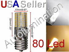 E17 LED Microwave Appliance Light Bulb Lamp 120vac Replaces GE  WB36X10003 64led