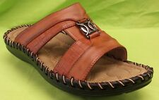 MEN EVERGREEN SANDALS SLIDES COMFORTABLE/CASUAL MEDIUM (D,M) COGNAC
