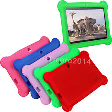 "Cute Silicone Soft Gel Case Cover For 7"" Android A23 / A13 / Q8 Tablet PC Kids"
