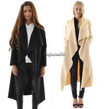 New Stylish Womens Long Length Waterfall Open Jacket Cape Cardigan Coat Outwear