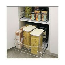 Pantry Pull-Out Shelves Kitchen Cabinet Organizer Bathroom Storage Drawer, Lg/Sm