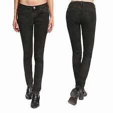Womens Ladies Stretch Black Slim Fit Skinny Soft Denim Jeans Jeggings UK 4-16