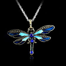 New Classic Dragonfly Women & Men Retro Sweater Long Chain Pendant Necklace Gift