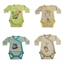 Long Sleeve Soft Cotton Bodysuits 9-12 months**100%Cotton***Clipped at the side.