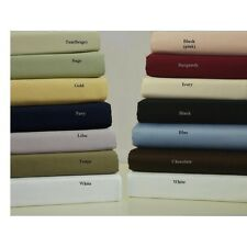 Luxurious Bedding 1qty Fitted Sheet Cal-King Size 1000 TC 100%Egyptian Cotton