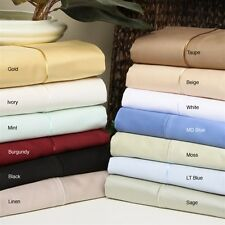 US King Size Bedding Items 100%Egyptian Cotton 1000 Thread Count