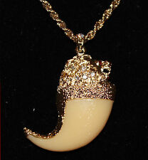 ELVIS TOUR TIGER CLAW PENDANT  Tribute with chain, handmade,