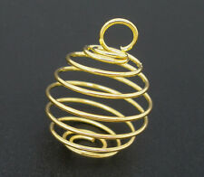 Wholesale New gold Plated HOTSELL Spiral Bead Cages Pendants 29x24mm