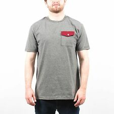 SLVDR COCKTAIL JERSEY POCKET TEE SHIRT BLACK WHITE RED T174