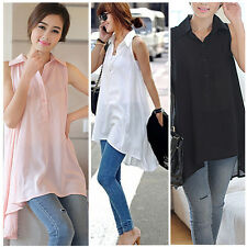 NEW Fashion Women's Long Sleeve V-Neck Loose Blouse Lady Casual Long Tops Shirt