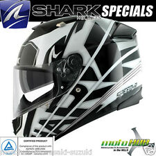 SHARK Speed R Craig White Black Motorcycle Road Bike Full Face Race Track Helmet