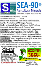 SEA-90 Organic Mineral & Trace Element Garden Crop Fertilizer & Foliar Spray