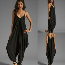 2015 FASHION V NECK ALL IN ONE BEACH PLAYSUIT HAREM ROMPERS JUMPSUIT PLUS SIZE