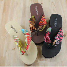 Fashion Women Summer Thick Bottom Flip Flops Sandals Beach Slippers Shoes 12