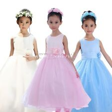 BIG SALE Flower Girl Princess Dress Kids Wedding Bridesmaid Party Tulle Dresses
