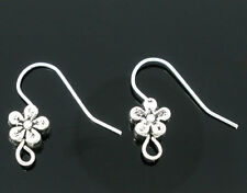 Wholesale New Flower Ear HOTSELL Wire Hooks Earring Findings 18x19mm