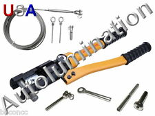 Stainless Steel Cable Hand Rail Hydraulic Crimper Crimp Swage Swaging Tool 12 Tn