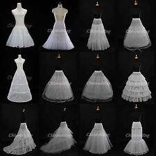 White A-Line Ball Gown Mermaid Petticoat Underskirt Slips Bridal Crinoline @US