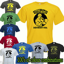 BILLY BROWNS BOXING CLUB GYM T SHIRT Golds Powerhouse UFC fight muscle USA  mma