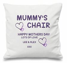 Luxury Personalised Cushion Covers Mummys Chair Mothers Day Gift With Message