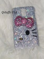 3D hello kitty crystals case bling diamond cover Samsung Galaxy Note 4 handmade