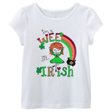 Girls Tees Babys Cotton Summer Short Sleeve Tops White Print T-Shirts Toddlers