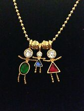 Small 18k Gold Plated Birthstone Babies Charms