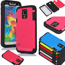 Armor Heavy Duty Defender Hard Case Protective Cover For Samsung Galaxy S V S5