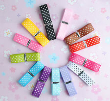 "5/8"" Upick Lots color grosgrain ribbon print dot appliques craft wedding R1041"
