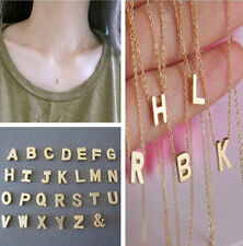 SHCA Women Gift Gold plated Letter name Initial chain Pendant Fashion Necklaces