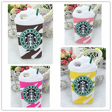 3D Starbucks Ice Cream Cup Soft Silicone Cover Case For iPhone 4S 5 5S 5C 6 Plus