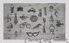 21pcs Silver 50 Fifty Shades of Grey Inspired Charm Set Lot Collection /Tie,Mask
