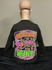 Girlie Girl Originals Move Over Boys - Hunt - Youth Longsleeve T-shirt Chocolate
