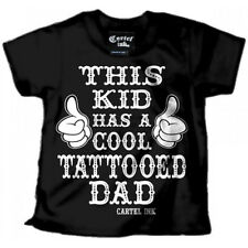 Kid's Cartel Ink This Kids has a Cool Tattooed Dad T-Shirt Black/White Inked