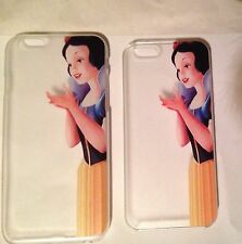 SNOW WHITE Transparent Iphone 5 5s 6 Mobile Phone Case UK SELLER