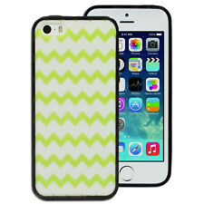 Green White Chevron pattern Case for Apple iPhone 4S 4 5 5S SE Printed Cover
