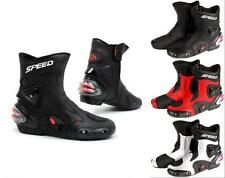 Men Women Speed PRO-BIKER Motorcycle Racing boots Cyling shoes Riding Boots