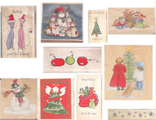 STAMPS HAPPEN RUBBER STAMPS CHRISTMAS SELECTION 10 DESIGNS TO CHOOSE FROM