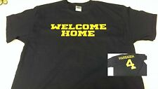 "Jim Harbaugh ""WELCOME HOME"" - Name Number on Back - Michigan Wolverines T-Shirt"