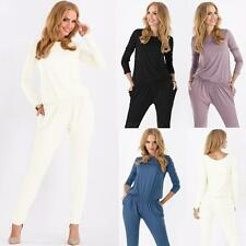 Women's Romper Long Sleeve One Piece Bodycon Jumpsuit Playsuit Casual Solid Pant