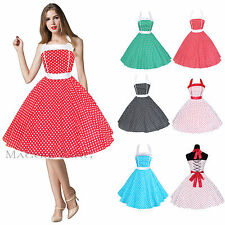 Maggie Tang 50s 60s Vintage Drancing Swing Jive Rockabilly Dress Skirt Party 505