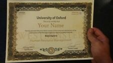 Novelty ANY University/Collage Diploma/Degree Certificate A4  (FUN fake)